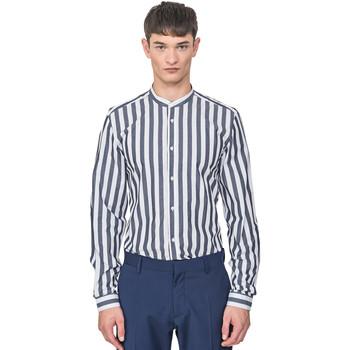 Textiel Heren Overhemden lange mouwen Antony Morato MMSL00604 FA420096 Blauw