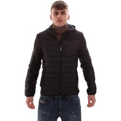 Textiel Heren Dons gevoerde jassen Lumberjack CM69422 001 601 Zwart