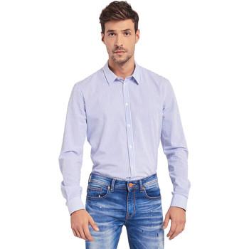 Textiel Heren Overhemden lange mouwen Gaudi 011BU45032 Blauw