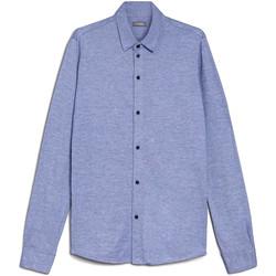 Textiel Heren Overhemden lange mouwen NeroGiardini E072300U Blauw