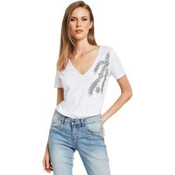 Textiel Dames T-shirts korte mouwen Gaudi 011BD64017 Wit