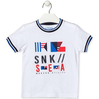 Textiel Kinderen T-shirts korte mouwen Losan 015-1000AL Wit