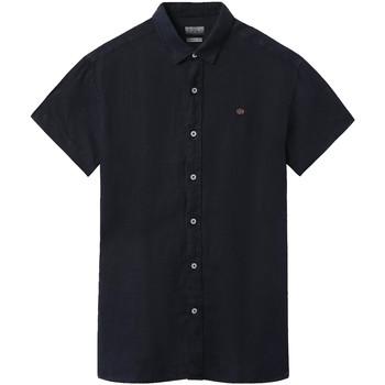 Textiel Heren Overhemden korte mouwen Napapijri NP000IF1 Blauw