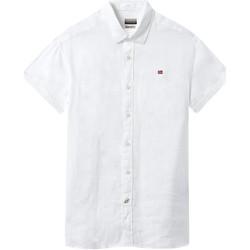 Textiel Heren Overhemden korte mouwen Napapijri NP000IF1 Wit