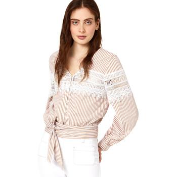 Textiel Dames Tops / Blousjes Liu Jo FA0183 T4169 Beige