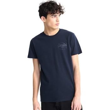 Textiel Heren T-shirts korte mouwen Superdry M1010067A Blauw