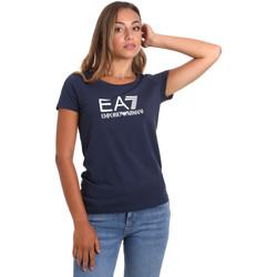 Textiel Dames T-shirts korte mouwen Ea7 Emporio Armani 8NTT63 TJ12Z Blauw