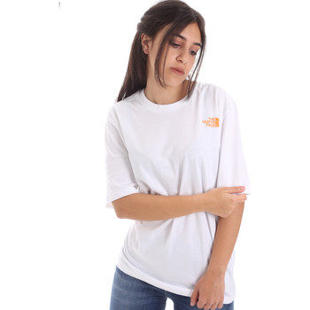 Textiel Dames T-shirts korte mouwen The North Face NF0A4M5QP9V1 Wit