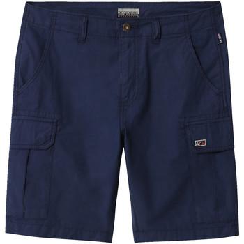 Textiel Heren Korte broeken / Bermuda's Napapijri NP0A4E1K Blauw