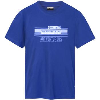 Textiel Heren T-shirts korte mouwen Napapijri NP0A4E36 Blauw