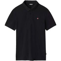 Textiel Heren Polo's korte mouwen Napapijri NP0A4E2M Zwart