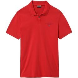Textiel Heren Polo's korte mouwen Napapijri NP0A4E2L Rood