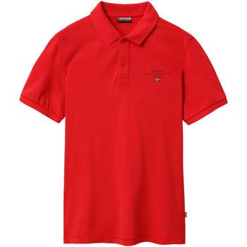 Textiel Heren Polo's korte mouwen Napapijri NP0A4EGC Rood