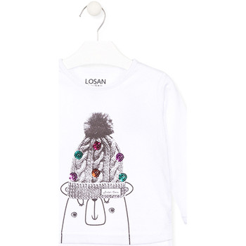 Textiel Kinderen T-shirts met lange mouwen Losan 026-1007AL Wit