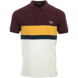 Textiel Heren Polo's korte mouwen Fred Perry Colour Block Polo Shirt Wit