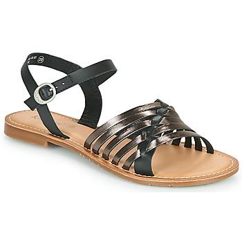 Schoenen Dames Sandalen / Open schoenen Kickers ETCETERA Zwart / Zilver