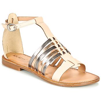 Schoenen Dames Sandalen / Open schoenen Kickers ETIKET Roze / Metaal / Zilver