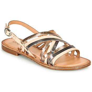 Schoenen Dames Sandalen / Open schoenen Kickers ETRUSK Roze / Metaal / Zilver