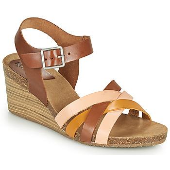 Schoenen Dames Sandalen / Open schoenen Kickers SOLYNIA Roze / Bruin / Geel