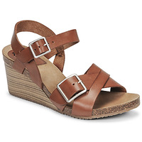 Schoenen Dames Sandalen / Open schoenen Kickers SPAINSTRAP Bruin