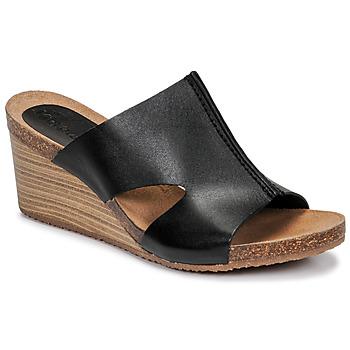 Schoenen Dames Leren slippers Kickers SPAINTA Zwart