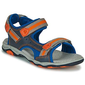 Schoenen Jongens Sandalen / Open schoenen Kickers KIWI Blauw / Oranje