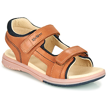 Schoenen Jongens Sandalen / Open schoenen Kickers PLATINO Bruin