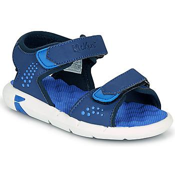 Schoenen Jongens Sandalen / Open schoenen Kickers JUMANGAP Blauw