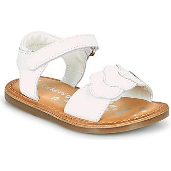 Schoenen Meisjes Sandalen / Open schoenen Kickers DYASTAR Wit