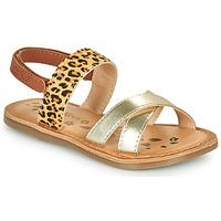 Schoenen Meisjes Sandalen / Open schoenen Kickers DYACROSS Goud / Luipaard