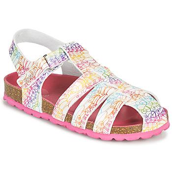 Schoenen Meisjes Sandalen / Open schoenen Kickers SUMMERTAN Wit