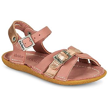 Schoenen Meisjes Sandalen / Open schoenen Kickers PEPETE Roze
