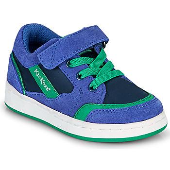 Schoenen Jongens Lage sneakers Kickers BISCKUIT Blauw