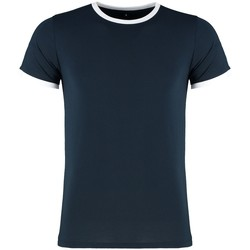 Textiel Heren T-shirts korte mouwen Kustom Kit KK508 Marine / Wit