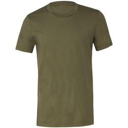 Textiel T-shirts korte mouwen Bella + Canvas CV3001 Militair Groen