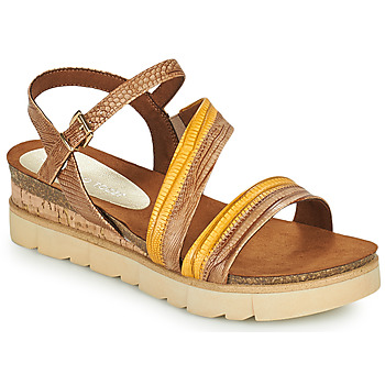 Schoenen Dames Sandalen / Open schoenen Marco Tozzi LIZZA Cognac