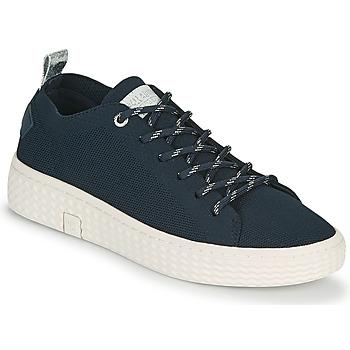 Schoenen Dames Lage sneakers Palladium Manufacture TEMPO 06 KNIT Marine