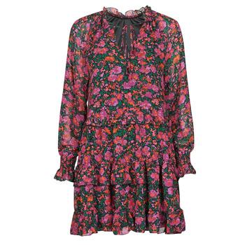 Textiel Dames Korte jurken Moony Mood NOMINA Zwart / Roze