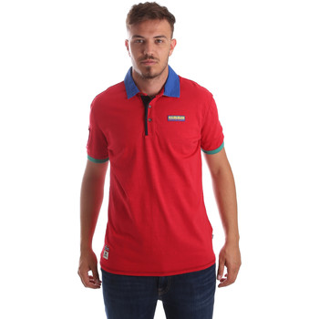 Textiel Heren Polo's korte mouwen Napapijri N0YIG1 Rood