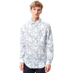 Textiel Heren Overhemden lange mouwen Napapijri N0YIDA Wit