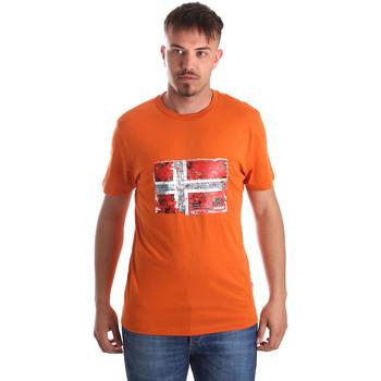 Textiel Heren T-shirts korte mouwen Napapijri N0YIJ4 Oranje