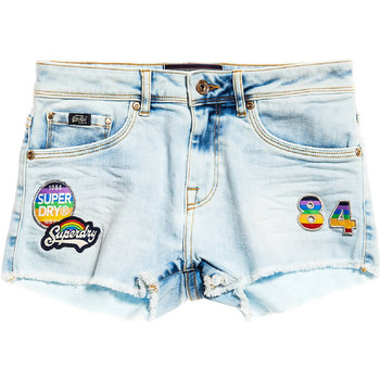 Textiel Dames Korte broeken / Bermuda's Superdry G70000YQF5 Blauw