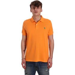 Textiel Heren Polo's korte mouwen U.S Polo Assn. 55957 41029 Oranje