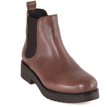 Schoenen Dames Enkellaarzen Mally 5535 Bruin