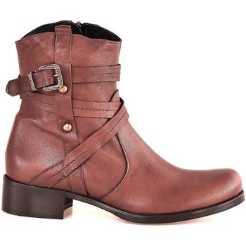 Schoenen Dames Enkellaarzen Mally 6431 Bruin