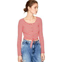 Textiel Dames T-shirts met lange mouwen Pepe jeans PL504453 Rood