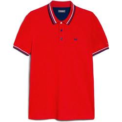 Textiel Heren Polo's korte mouwen NeroGiardini E072390U Rood