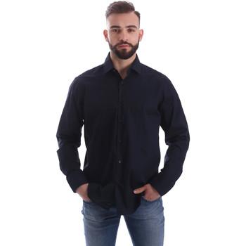 Textiel Heren Overhemden lange mouwen Gmf 962250/01 Blauw