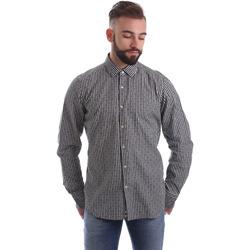 Textiel Heren Overhemden lange mouwen Gmf 962169/04 Zwart