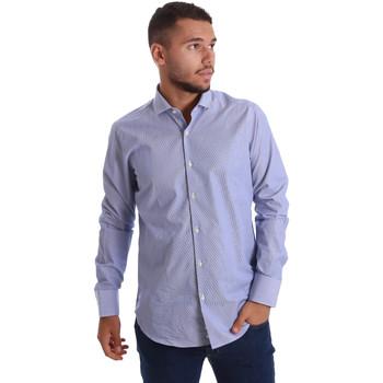 Textiel Heren Overhemden lange mouwen Gmf 971263/01 Blauw